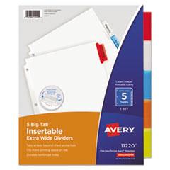 Avery®-INDEX,BNDR,LTR,5CLRD/ST
