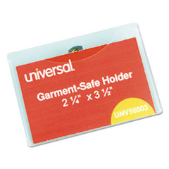 UNV 56003 Universal Clear Badge Holders With Inserts UNV56003
