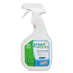 Green Works® CLEANER GLASS-SURFCE 32OZ GLASS AND SURFACE CLEANER, ORIGINAL, 32 OZ SMART TUBE SPRAY BOTTLE