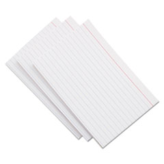 Universal® CARD INDEX RULED 3X5 WE Ruled Index Cards, 3 X 5, White, 100-pack