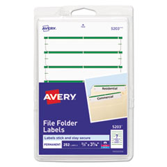 Avery®-LABEL,FLE,FLDR,252/PK,GN