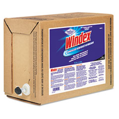 Windex Powerized Formula Glass/Surface Cleaner, 5 Gallon Bag-in-Box Dispenser