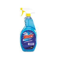 Windex Powerized Formula Glass & Surface Cleaner, 32 oz. Trigger Bottle, 12/Ct