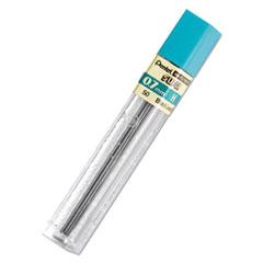 Pentel® LEAD PENCIL .7MM H 12-PK SUPER HI-POLYMER LEAD REFILLS, 0.7 MM, H, BLACK, 12-TUBE