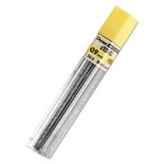 Pentel® LEAD PENCIL .9MM HB 15-PK SUPER HI-POLYMER LEAD REFILLS, 0.9 MM, HB, BLACK, 15-TUBE