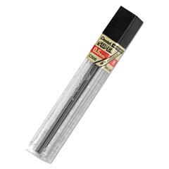 Pentel® LEAD PENCIL .5MM H 12-PK SUPER HI-POLYMER LEAD REFILLS, 0.5 MM, H, BLACK, 12-TUBE