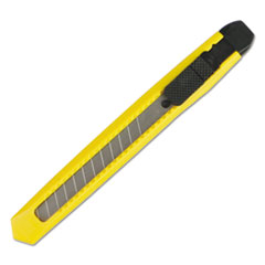 Boardwalk® KNIFE 10MM SNAP YL SNAP BLADE KNIFE, RETRACTABLE, SNAP-OFF, STRAIGHT-EDGED, YELLOW