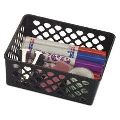 "Officemate BASKET SUPPLY BASKET BK Recycled Supply Basket, 6.125"" x 5"" x 2.375"", Black, 3-Pack"