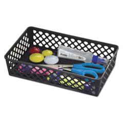 "Officemate BASKET SUPPLY BASKET BK Recycled Supply Basket, 10.0625"" x 6.125"" x 2.375"", Black, 2-Pack"