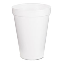 Dart Foam Drink Cups, 12oz, White, 25/Bag, 40 Bags/Carton