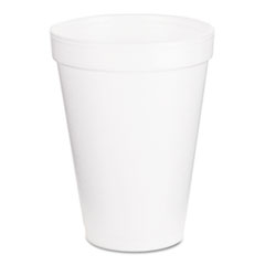 Dart Drink Foam Cups, 12oz, White, 1000/Carton