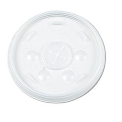 Dart Plastic Lids, for 12-oz. Hot/Cold Foam Cups, Slip-Thru Lid, WE, 1000/Carton