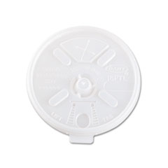 Dart Translucent Lids for 12-24 oz. Foam Cups, Straw Slot, 1000/Carton