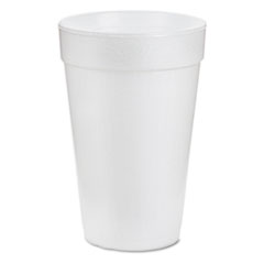 Dart Drink Foam Cups, 16oz, White, 25/Bag, 40 Bags/Carton