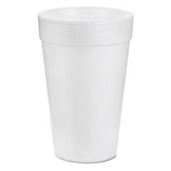 Dart Foam Drink Cups, 16oz, White, 25/Bag, 40 Bags/Carton