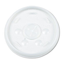 Dart Plastic Lids, for 16oz Hot/Cold Foam Cups, Slip-Thru Lid, White, 1000/Carton