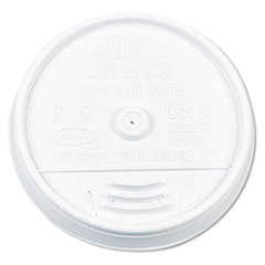 Dart Plastic Lids, for 16 oz. Hot/Cold Foam Cups, Sip-Thru Lid, White, 1000/Carton