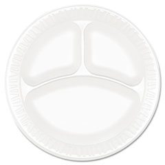 Dart Concorde Foam Plate, Compartmented, 9