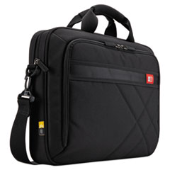 "DIAMOND 17"" LAPTOP BRIEFCASE, 17.3"" X 3.2"" X 12.5"", BLACK"