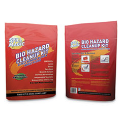 "Spill Magic™ SOLVENT BIOHZRD CLNUP KIT BIOHAZARD SPILL CLEANUP, 3-4"" X 6"" X 9"""