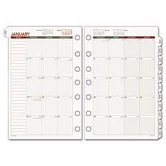 Day Runner Recycled Monthly Planning Pages, 5-1/2 x 8-1/2