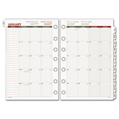 Day Runner Recycled Monthly Planning Pages, 8-1/2 x 11, 2015