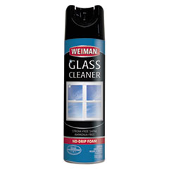 WEIMAN® CLEANER GLASS 19OZ AERSOL Foaming Glass Cleaner, 19 Oz Aerosol Can