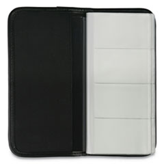 Universal® HOLDER BUSINESS VINYL BK BUSINESS CARD HOLDER, VINYL, BLACK, 4 3-4 X 10 1-8
