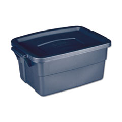 "Rubbermaid® STORAGE 3GAL RGNK TOTE BE ROUGHNECK STORAGE BOX, 3 GAL, 10.63"" X 15.69"" X 7"", DARK INDIGO METALLIC"