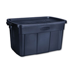 "Rubbermaid® STORAGE 31GL RGNK TOTE BE ROUGHNECK STORAGE BOX, 31 GAL, 20.4"" X 32.3"" X 16.7"", DARK INDIGO METALLIC"