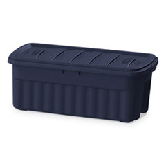 "Rubbermaid® STORAGE 50GL RGNK TOTE BE ROUGHNECK STORAGE BOX, 50 GAL, 21.2"" X 43"" X 17.88"", DARK INDIGO METALLIC"