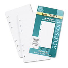 Day-Timer Lined Note Pads for Organizer, 3-3/4 x 6-3/4, 48 Sheets/Pack