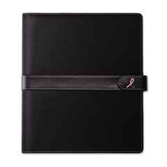 Day-Timer Pink Ribbon Wirebound Organizer Notebook Starter, 8-1/2 x 11, Black/Pink