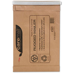 Caremail Rugged Padded Mailer, Side Seam, 10 1/2x14 3/4, Light Brown, 25/Carton
