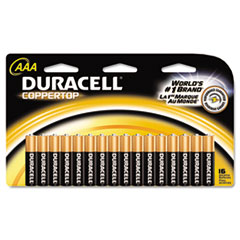 Duracell Coppertop Alkaline Batteries, AAA, 16/Pack