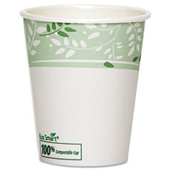 Dixie PLA Hot Cups, Paper w/PLA Lining, Viridian, 10oz, 1000/Carton