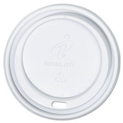 Dixie Dome Cup Lids, Fits 12-,16-oz. Cups, White, 1000/Carton