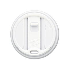 Dixie Reclosable Lids for 12- & 16-oz. Hot Cups, 100 Lids/Pack, 10 Packs/Carton, White