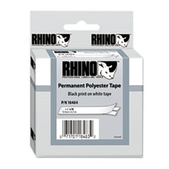 DYMO Rhino Permanent Poly Industrial Label Tape Cassette, 3/4in x 18ft, White
