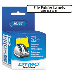 DYMO 1-Up File Folder Labels, 9/16 x 3-7/16, White, 260/Box