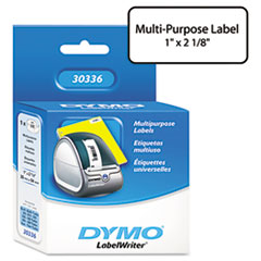 DYMO Multipurpose Labels, 1 x 2 1/8, White, 500/Box