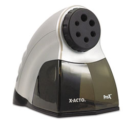 X-ACTO ProX Commercial Electric Pencil Sharpener, Silver/Black