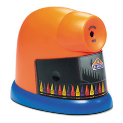 Elmer's CrayonPro Electric Crayon Sharpener with Replacable Blade, Orange
