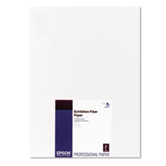 Epson Exhibition Fiber Paper, 13 x 19, White, 25 Sheets