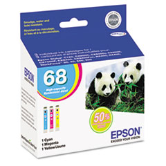 Epson T068520 High-Yield Ink, 3/Pack, Cyan; Magenta; Yellow