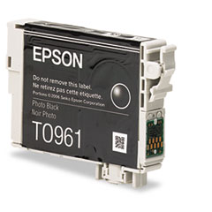 Epson T096120 (96) Ink, 450 Page-Yield, Photo Black