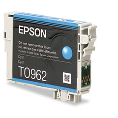 Epson T096220 (96) Ink, 430 Page-Yield, Cyan