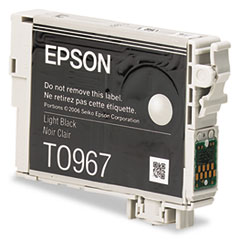 Epson T096720 (96) Ink, 450 Page-Yield, Light Black