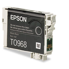 Epson T096820 (96) Ink, 450 Page-Yield, Matte Black