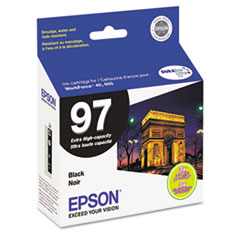 Epson T097120 (97) Extra High-Yield Ink, Black